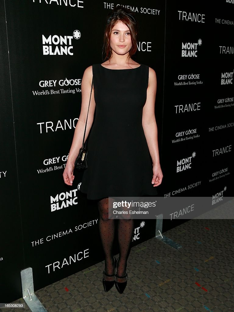 Actress Gemma Arterton attends The Cinema Society & Montblanc Host Fox Searchlight Pictures' 'Trance' at SVA Theatre on April 2, 2013 in New York City.