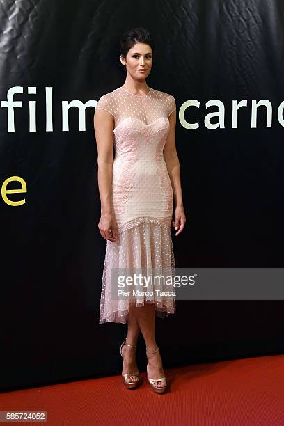 Actress Gemma Arterton attends 'The Girl with all the gifts' premiere during the 69th Locarno Film Festival on August 3 2016 in Locarno Switzerland