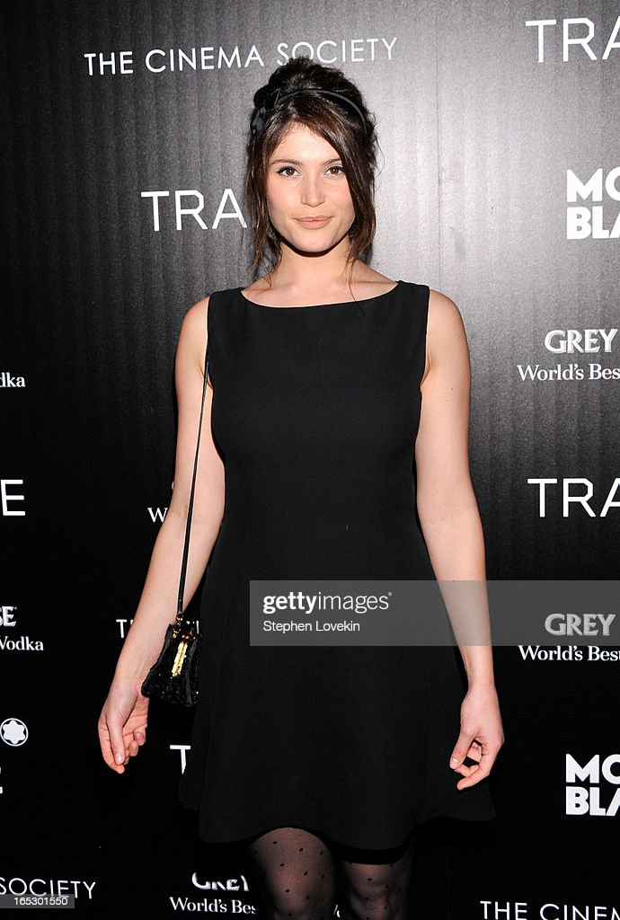 Actress Gemma Arterton attends the premiere of Fox Searchlight Pictures' 'Trance' hosted by The Cinema Society & Montblanc at SVA Theater on April 2, 2013 in New York City.