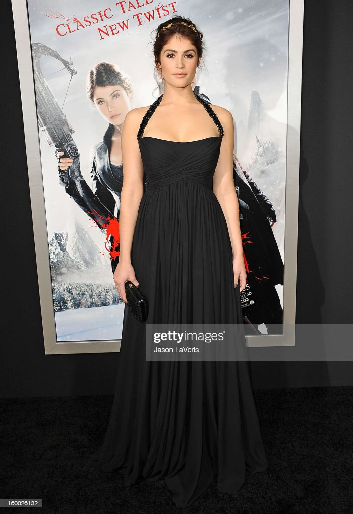 Actress Gemma Arterton attends the premiere of 'Hansel & Gretel: Witch Hunters' at TCL Chinese Theatre on January 24, 2013 in Hollywood, California.