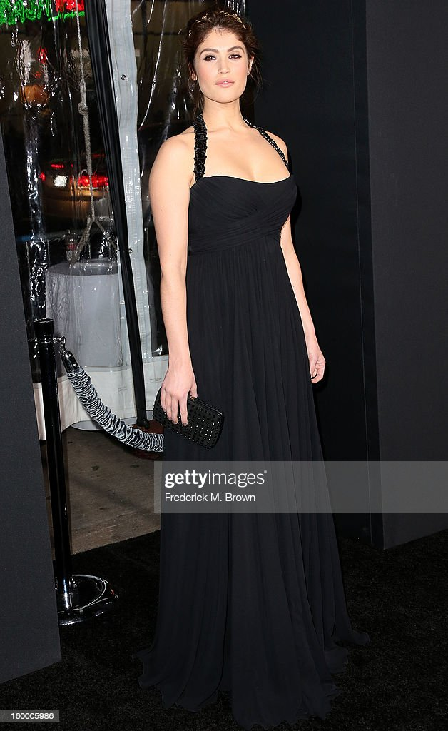 Actress Gemma Arterton attends the Premiere of Paramount Pictures' 'Hansel And Gretel Witch Hunters' at the TCL Chinese Theatre on January 24, 2013 in Hollywood, California.