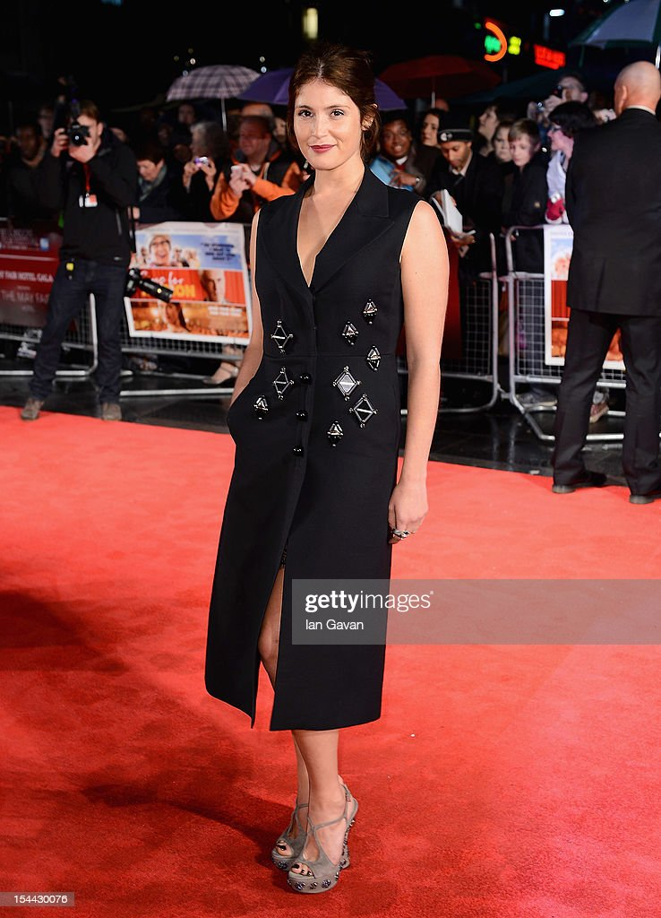 Actress Gemma Arterton attends the 'Song For Marion' premiere during the 56th BFI London Film Festival at the Odeon West End on October 19 2012 in...