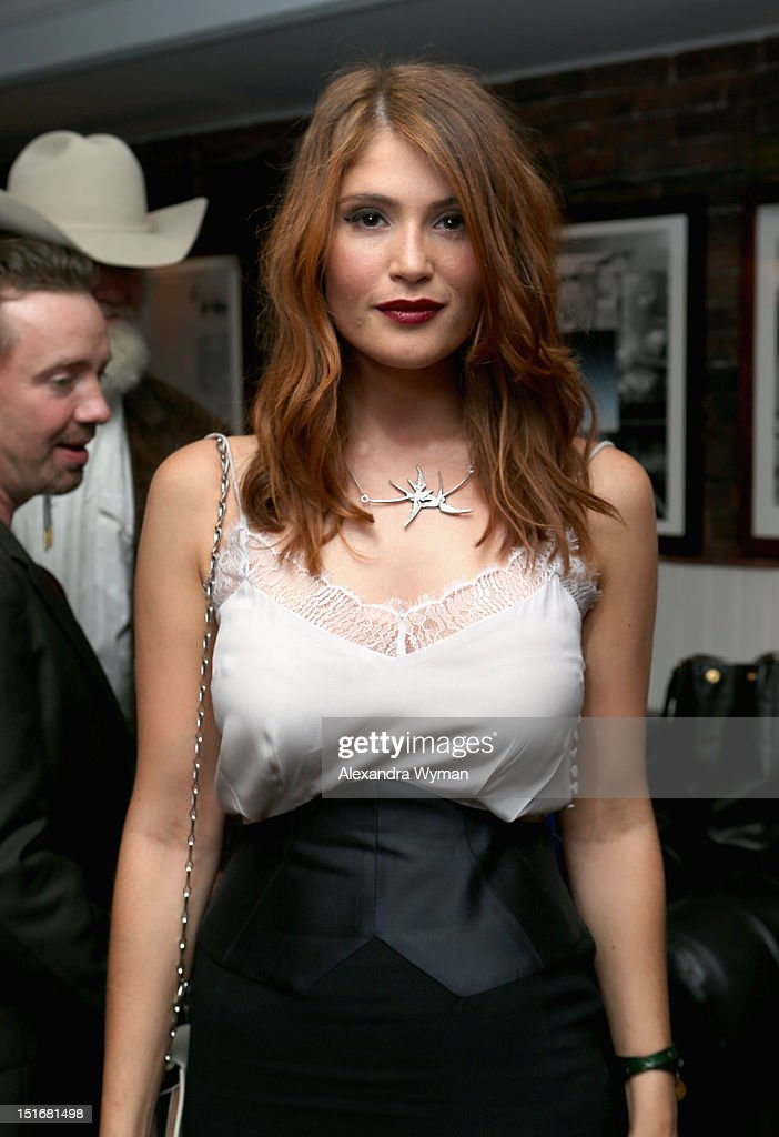 Actress Gemma Arterton attends the WestEnd Films and Grey Goose Vodka party for 'Byzantium' at Soho House Toronto on September 9, 2012 in Toronto, Canada.
