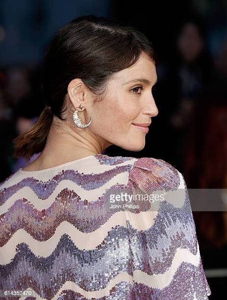 Actress Gemma Arterton attends 'Their Finest' Mayor's Centrepiece Gala screening during the 60th BFI London Film Festival at Odeon Leicester Square...