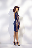 110258002 Actress Gemma Arterton is photographed for Madame Figaro on June 19 2014 in Paris France Dress shoes earrings Makeup by Sisley PUBLISHED...