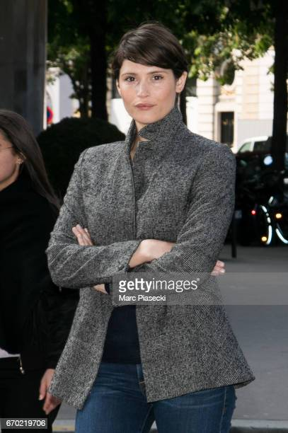 Actress Gemma Arterton is seen on Avenue George V on April 19 2017 in Paris France