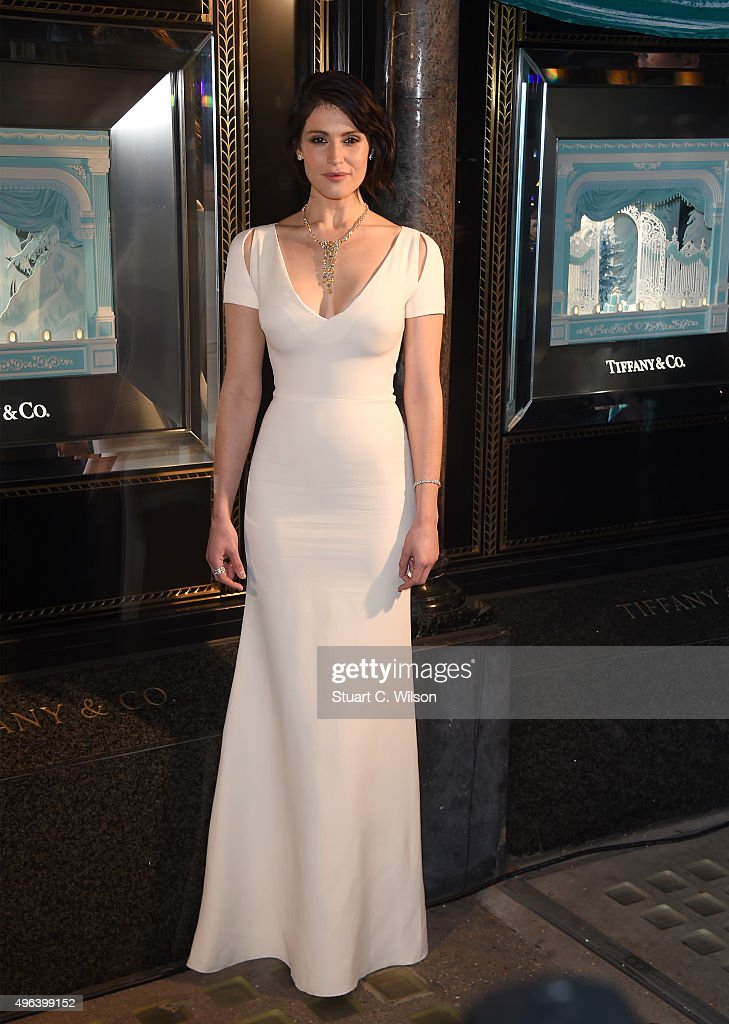 Actress <a gi-track='captionPersonalityLinkClicked' href=/galleries/search?phrase=Gemma+Arterton&family=editorial&specificpeople=4296305 ng-click='$event.stopPropagation()'>Gemma Arterton</a> reveals the 2015 Tiffany & Co. Christmas windows at the Old Bond Street store, marking the opening of the Tiffany Christmas shop on November 9, 2015 in London, England.