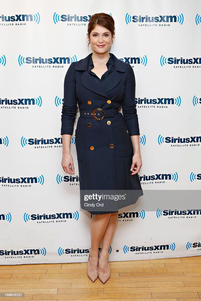 Actress Gemma Arterton visits the SiriusXM Studios on January 17, 2013 in New York City.