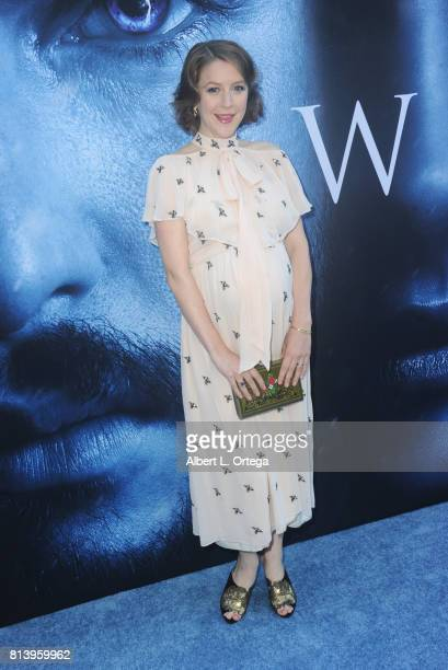 Actress Gemma Whelan arrives for the Premiere Of HBO's 'Game Of Thrones' Season 7 held at Walt Disney Concert Hall on July 12 2017 in Los Angeles...