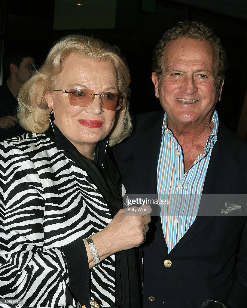 Actress Gena Rowlands (L) and Mark Levin attend the AMPAS presentation of 'A Centennial Tribute to Bette Davis' May 1, 2008 in Los Angeles, California.