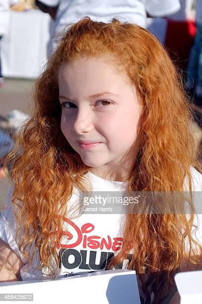 Actress generationOn celebrity youth ambassador actress Francesca Capaldi attends Family Volunteer Day event at Downtown Disney joining generationOn...