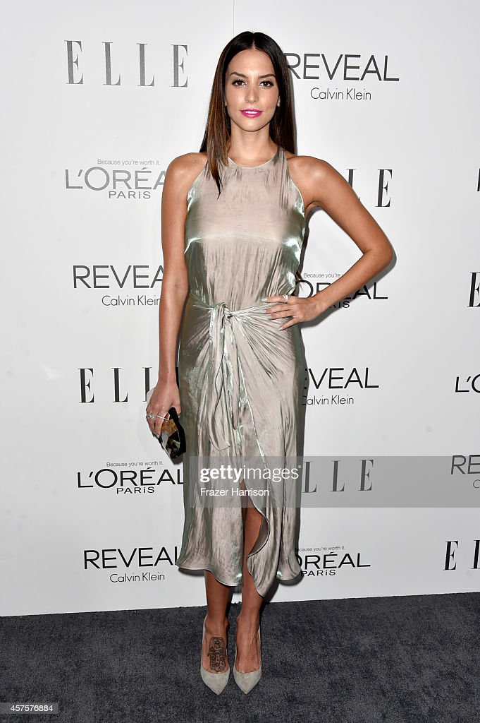 Actress Genesis Rodriguez arrives at ELLE's 21st Annual Women In Hollywood at Four Seasons Hotel Los Angeles at Beverly Hills on October 20 2014 in...