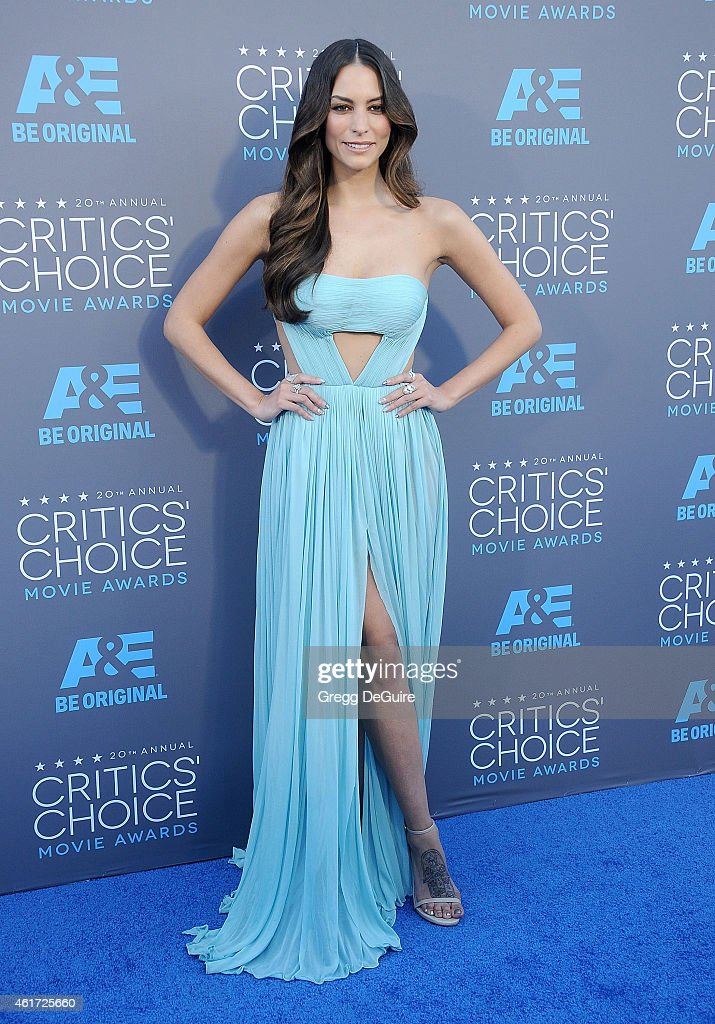 Actress Genesis Rodriguez arrives at the 20th Annual Critics' Choice Movie Awards at Hollywood Palladium on January 15 2015 in Los Angeles California