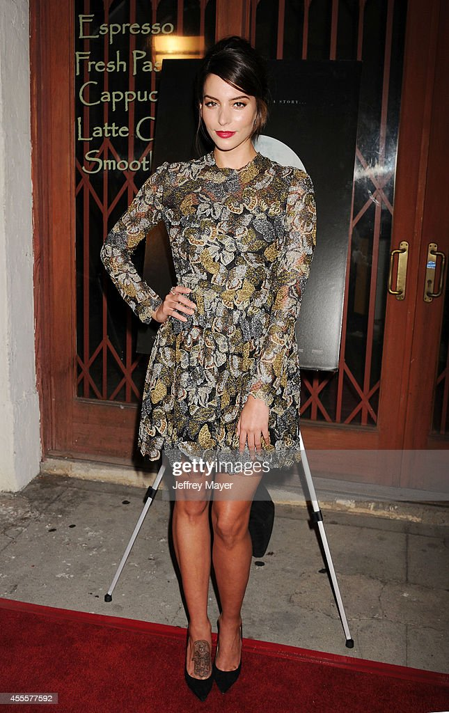 Actress Genesis Rodriguez arrives at the Los Angeles premiere of 'Tusk' at the Vista Theatre on September 16 2014 in Los Angeles California