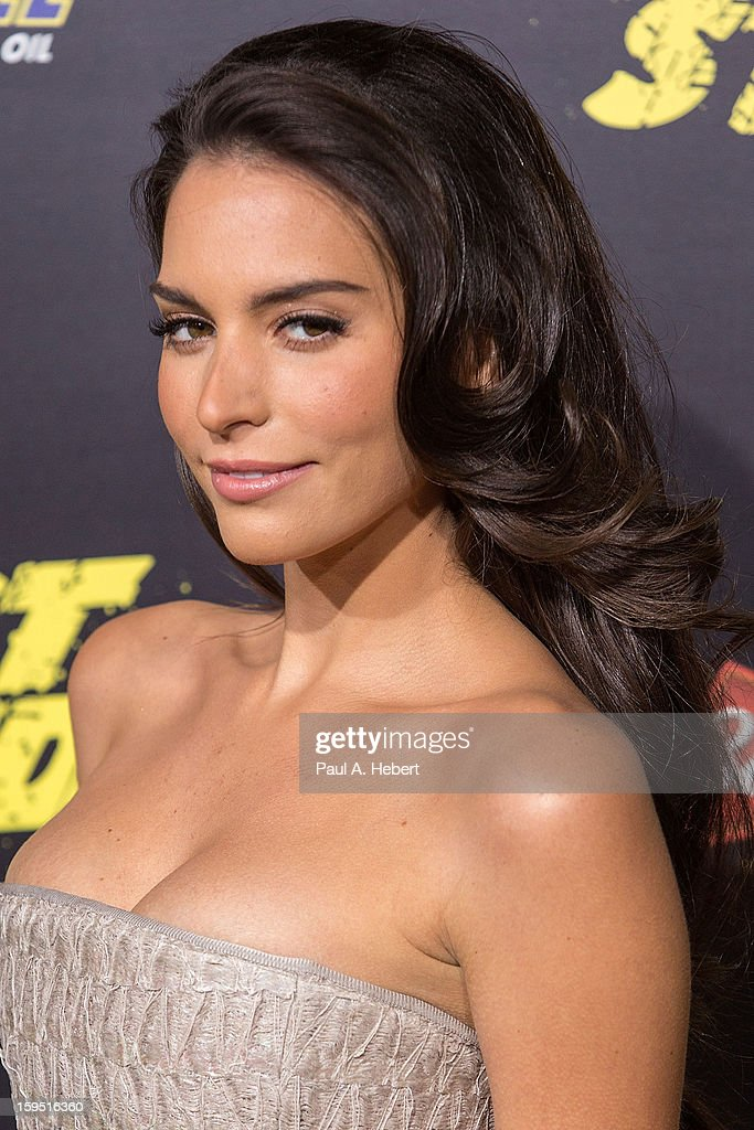 Actress Genesis Rodriguez arrives at the premiere of Lionsgate Films' 'The Last Stand' held at Grauman's Chinese Theatre on January 14, 2013 in Hollywood, California.
