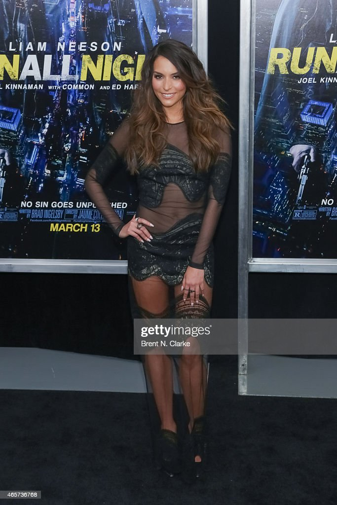 Actress Genesis Rodriguez arrives for the 'Run All Night' New York Premiere at AMC Lincoln Square Theater on March 9 2015 in New York City