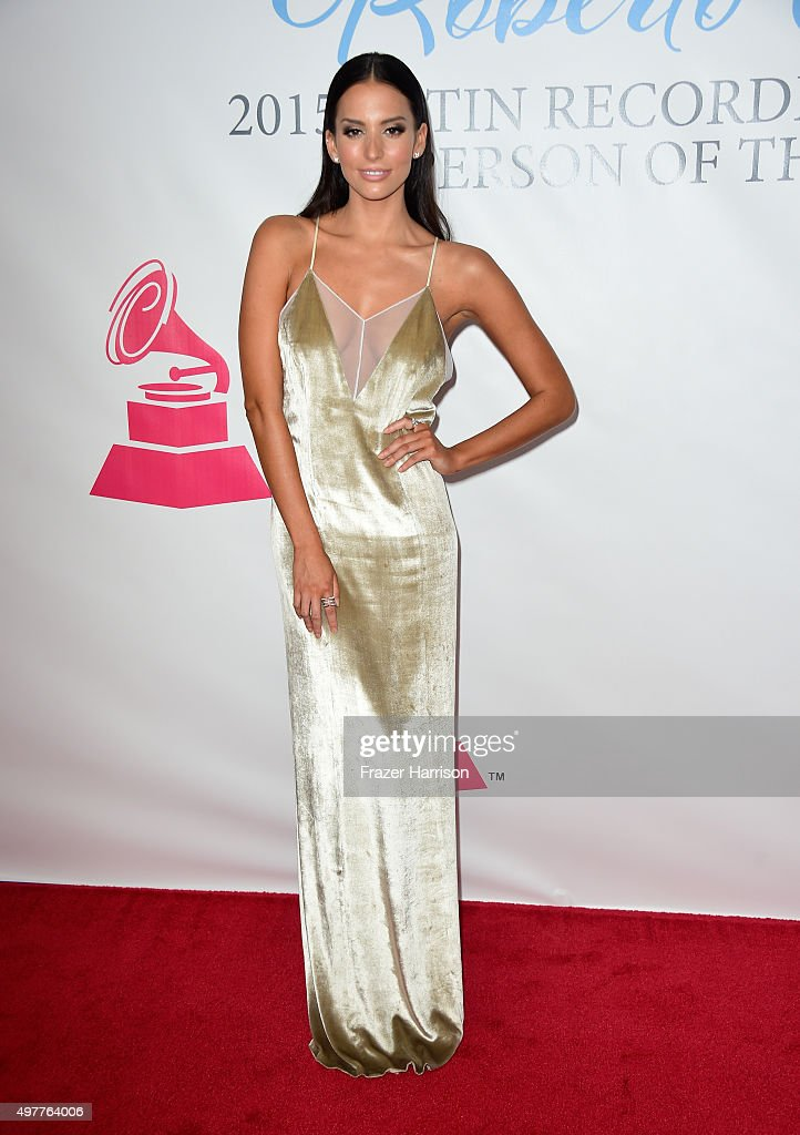 Actress Genesis Rodriguez attends the 2015 Latin GRAMMY Person of the Year honoring Roberto Carlos at the Mandalay Bay Events Center on November 18...