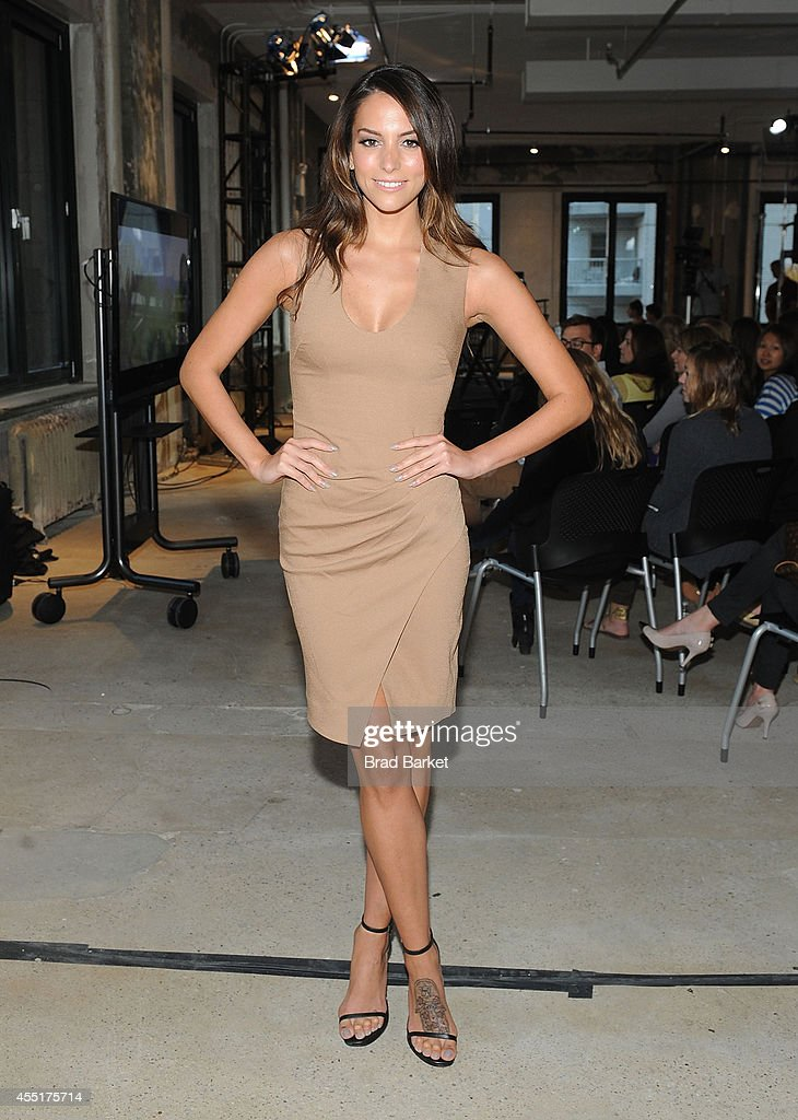 Actress Genesis Rodriguez attends the AOL's Build Speaker Series Presents Justin Long at AOL Studios In New York on September 10 2014 in New York City
