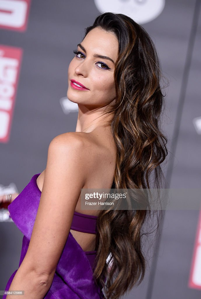 Actress Genesis Rodriguez attends the premiere of Disney's 'Big Hero 6' at the El Capitan Theatre on November 4 2014 in Hollywood California