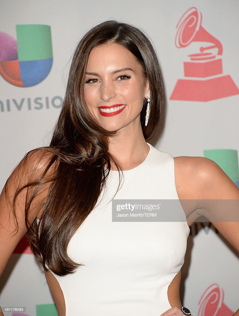 Actress Genesis Rodriguez poses in the press room at the 14th Annual Latin GRAMMY Awards held at the Mandalay Bay Events Center on November 21 2013...
