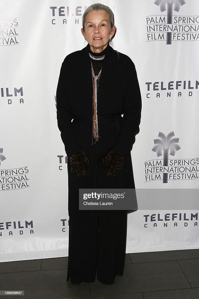 Actress Genevieve Bujold arrives at the Canadian film party at the 24th annual Palm Springs International Film Festival on January 6, 2013 in Palm Springs, California.