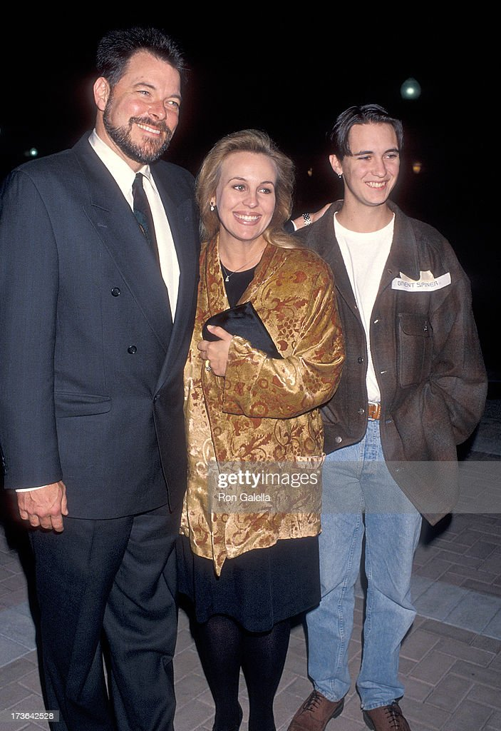 Actress Genie Francis and husband actor Jonathan Frakes and actor Wil Wheaton attend the Special Screening of the 'Star Trek The Next Generation'...