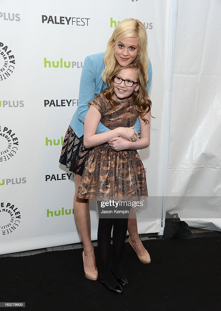 Actress Georgia King and actress Bebe Wood attend the Paley Center For Media's PaleyFest 2013 Honoring 'The New Normal' at Saban Theatre on March 6, 2013 in Beverly Hills, California.