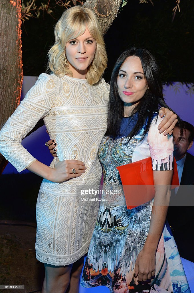 Actress Georgia King and musician Lauren Harris attend British Airways and Variety Celebrate The Inaugural A380 Service Direct from Los Angeles to London and Discover Variety's 10 Brits to Watch on September 25, 2013 in Los Angeles, California.