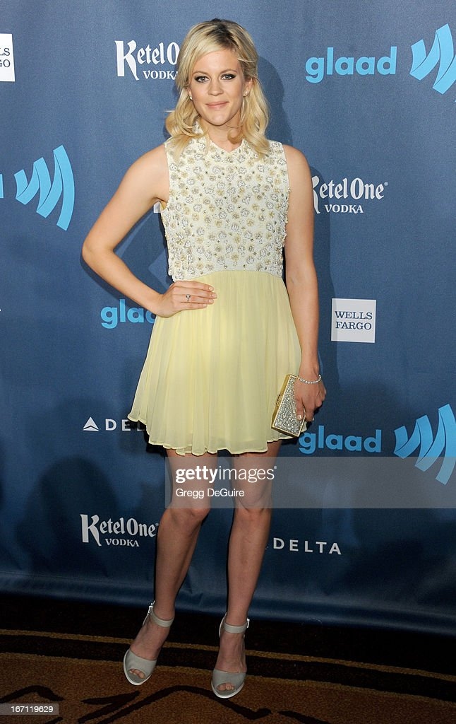 Actress Georgia King arrives at the 24th Annual GLAAD Media Awards at JW Marriott Los Angeles at L.A. LIVE on April 20, 2013 in Los Angeles, California.