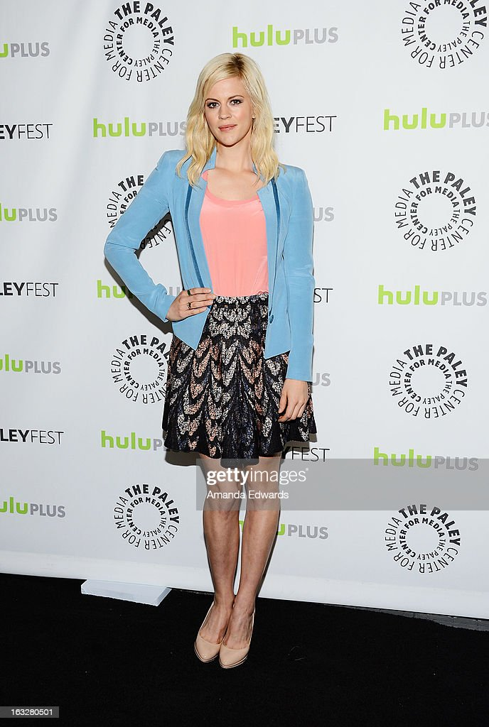 Actress Georgia King arrives at the 30th Annual PaleyFest: The William S. Paley Television Festival featuring 'The New Normal' at the Saban Theatre on March 6, 2013 in Beverly Hills, California.