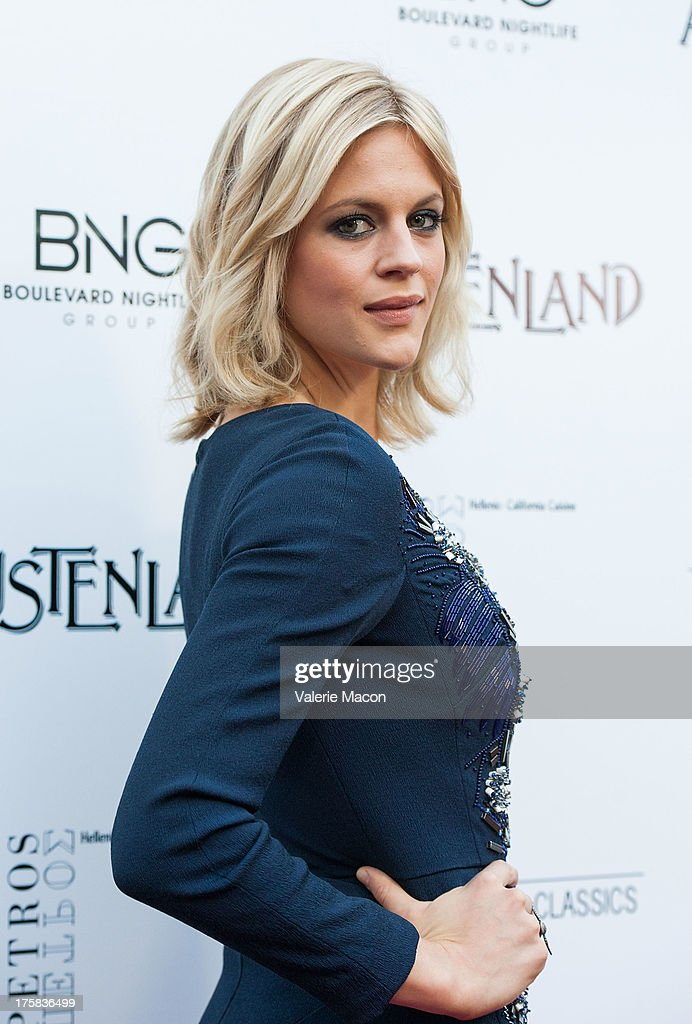 Actress <a gi-track='captionPersonalityLinkClicked' href=/galleries/search?phrase=Georgia+King&family=editorial&specificpeople=5846970 ng-click='$event.stopPropagation()'>Georgia King</a> arrives at the Premiere Of Sony Pictures Classics' 'Austenland' at ArcLight Hollywood on August 8, 2013 in Hollywood, California.