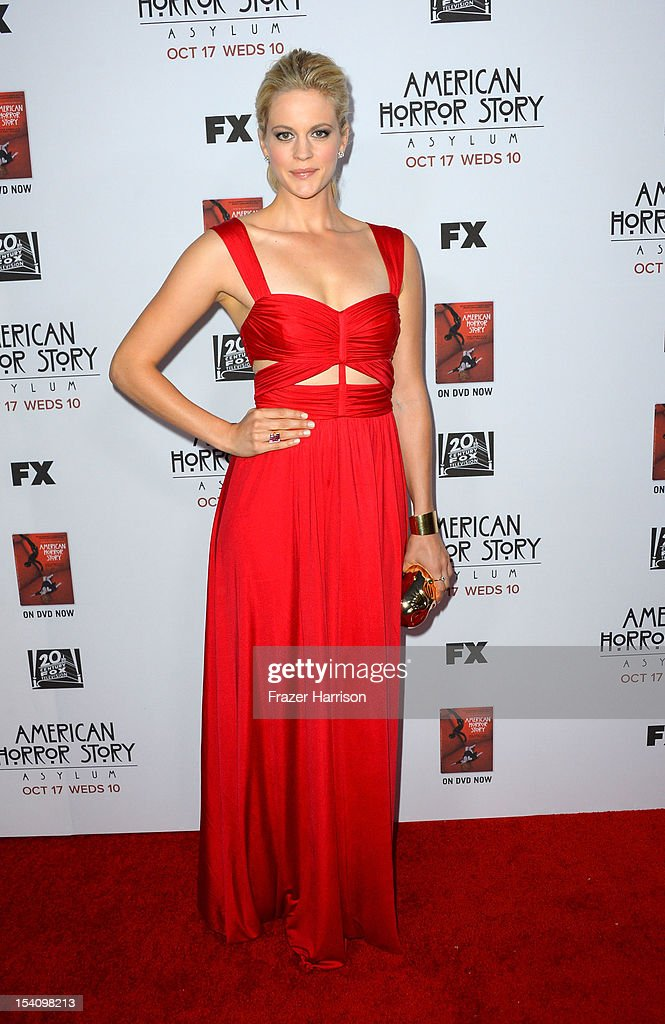 Actress Georgia King arrives at the Premiere Screening of FX's 'American Horror Story: Asylum' at the Paramount Theatre on October 13, 2012 in Hollywood, California.