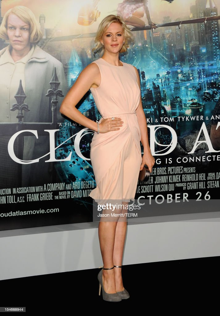 Actress Georgia King arrives at Warner Bros. Pictures' 'Cloud Atlas' premiere at Grauman's Chinese Theatre on October 24, 2012 in Hollywood, California.