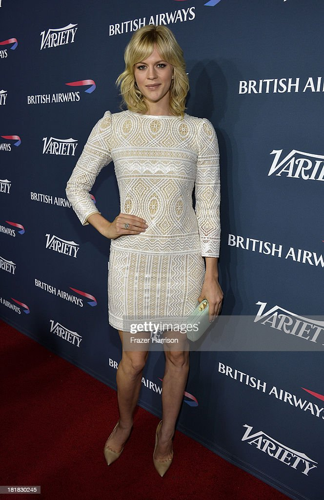 Actress Georgia King attends British Airways and Variety Celebrate The Inaugural A380 Service Direct from Los Angeles to London and Discover Variety's 10 Brits to Watch on September 25, 2013 in Los Angeles, California.