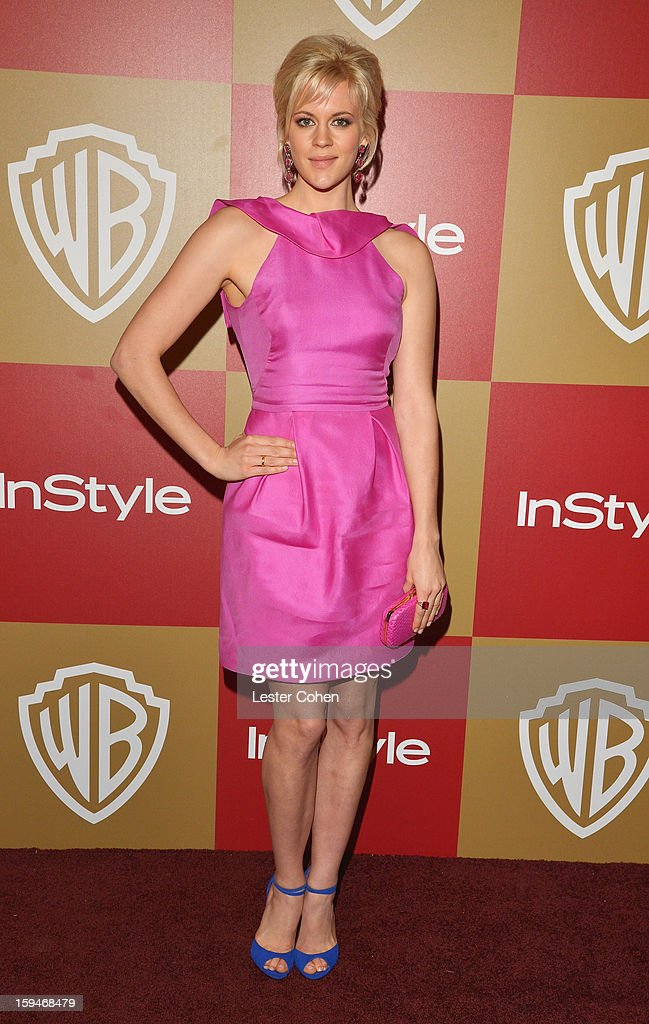 Actress Georgia King attends the 2013 InStyle and Warner Bros. 70th Annual Golden Globe Awards Post-Party held at the Oasis Courtyard in The Beverly Hilton Hotel on January 13, 2013 in Beverly Hills, California.