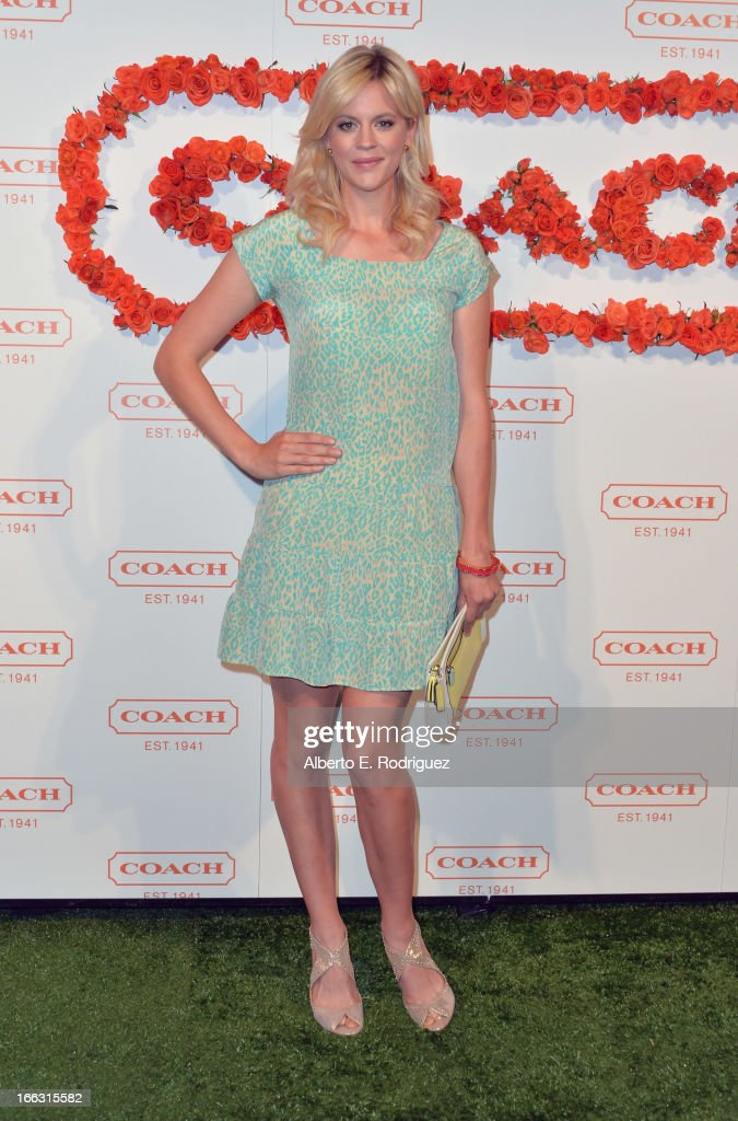 Actress Georgia King attends the 3rd Annual Coach Evening to benefit Children's Defense Fund at Bad Robot on April 10, 2013 in Santa Monica, California.