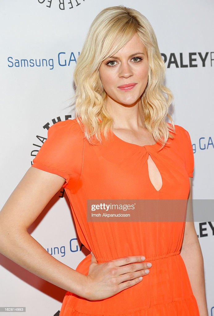 Actress Georgia King attends the Inaugural PaleyFest Icon Award honoring Ryan Murphy at The Paley Center for Media on February 27, 2013 in Beverly Hills, California.