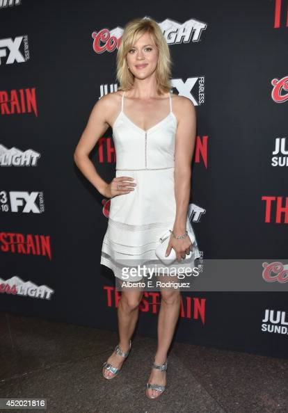 Actress Georgia King attends the premiere of FX's 'The Strain' at DGA Theater on July 10 2014 in Los Angeles California