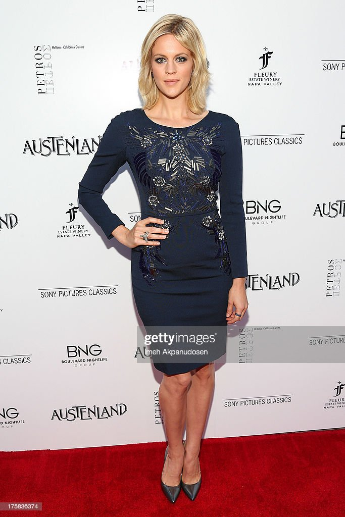 Actress <a gi-track='captionPersonalityLinkClicked' href=/galleries/search?phrase=Georgia+King&family=editorial&specificpeople=5846970 ng-click='$event.stopPropagation()'>Georgia King</a> attends the premiere of Sony Pictures Classics' 'Austenland' at ArcLight Hollywood on August 8, 2013 in Hollywood, California.