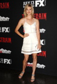 Actress Georgia King attends the premiere of 'The Strain' at DGA Theater on July 10 2014 in Los Angeles California