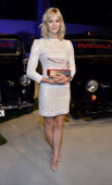 Actress Georgia King poses with award during British Airways and Variety Celebrate The Inaugural A380 Service Direct from Los Angeles to London and...