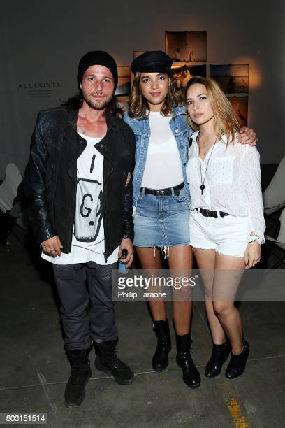 Actress Georgie Flores and guests attend AllSaints Ed Templeton Launch at LA Studios on June 28 2017 in Hollywood California