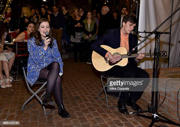 Actress Georgie Henley and actor Evan Kuzma perform during 'The Sisterhood Of Night' NY Premiere and After Party on April 2 2015 in New York City