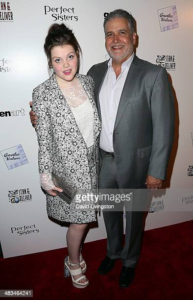 Actress Georgie Henley and director Stanley M Brooks attend the Los Angeles premiere of Gravitas Ventures' 'Perfect Sisters' at the Landmark Theater...