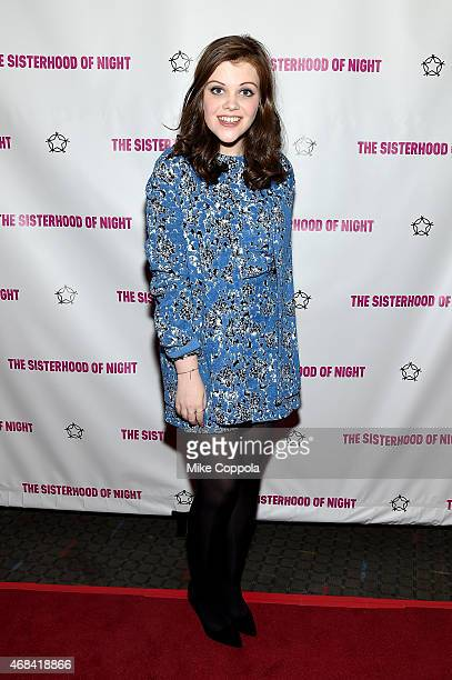Actress Georgie Henley attends ''The Sisterhood Of Night'' NY Premiere and After Party on April 2 2015 in New York City