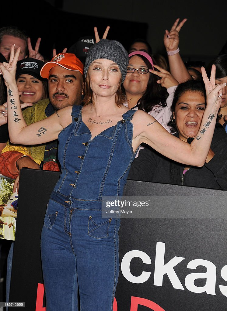 Actress <a gi-track='captionPersonalityLinkClicked' href=/galleries/search?phrase=Georgina+Cates&family=editorial&specificpeople=4251084 ng-click='$event.stopPropagation()'>Georgina Cates</a> arrives at the Los Angeles premiere of 'Jackass Presents: Bad Grandpa' at TCL Chinese Theatre on October 23, 2013 in Hollywood, California.