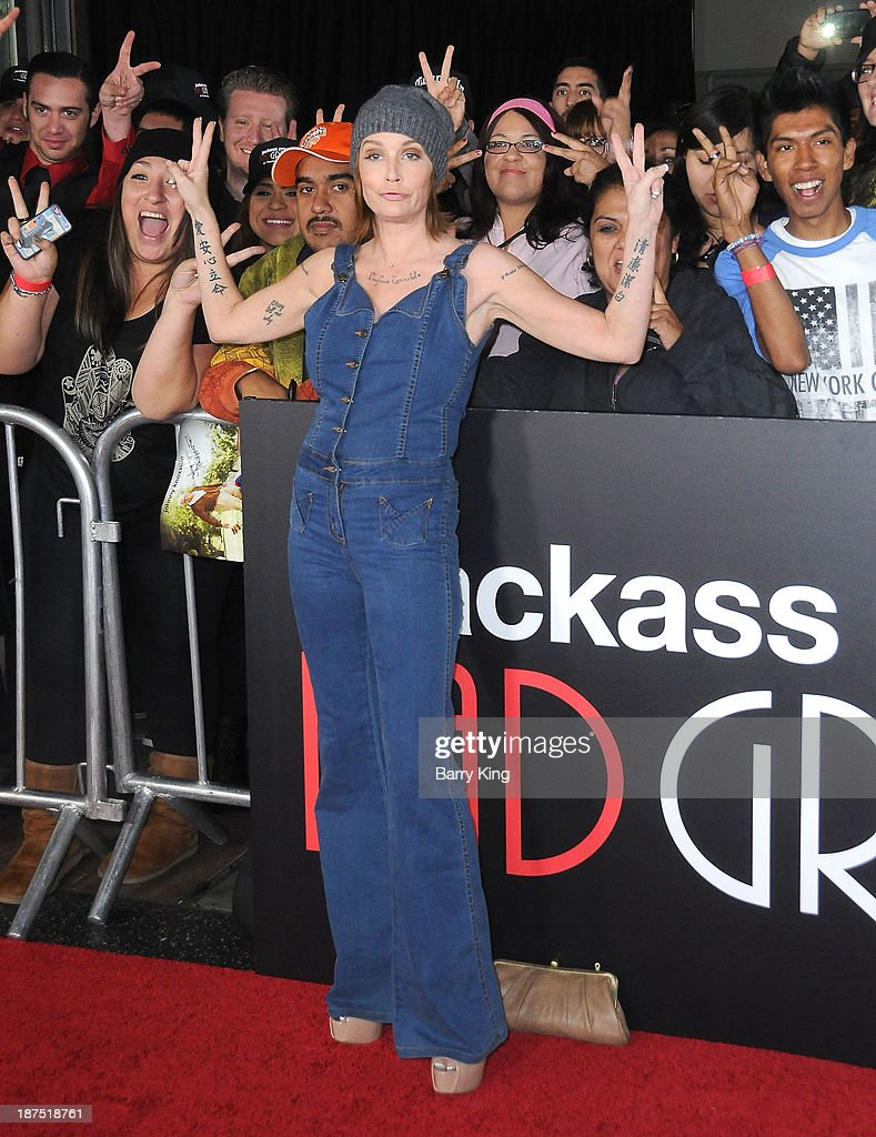 Actress <a gi-track='captionPersonalityLinkClicked' href=/galleries/search?phrase=Georgina+Cates&family=editorial&specificpeople=4251084 ng-click='$event.stopPropagation()'>Georgina Cates</a> attends the Los Angeles premiere of 'Bad Grandpa: Presented by Jackass' on October 23, 2013 at TCL Chinese Theatre in Hollywood, California.