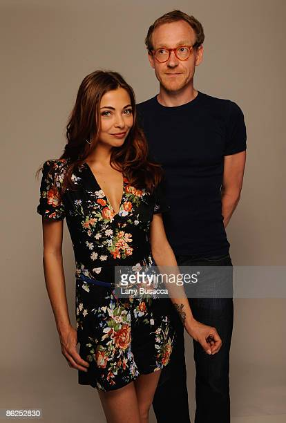 Actress Georgina Verbaan and director Cyrus Frisch attend the Tribeca Film Festival 2009 portrait studio at DIRECTV Tribeca Press Center on April 27...