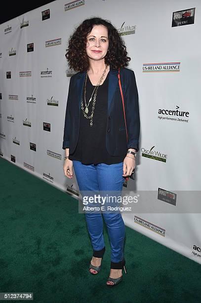 Actress Geraldine Hughes attends the Oscar Wilde Awards at Bad Robot on February 25 2016 in Santa Monica California