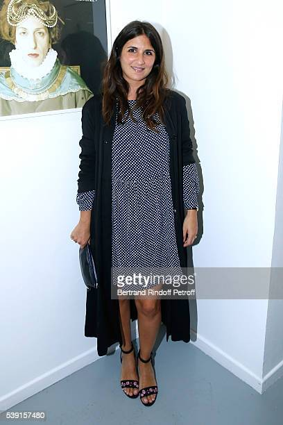 Actress Geraldine Nakache attends the '55 Politiques' Exhibition of Stephanie Murat's Pictures Opening Party at Galerie Dupin on June 9 2016 in Paris...